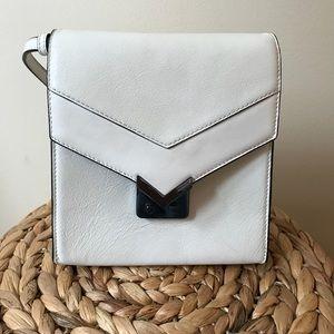 Mackage White Yazmin Crossbody Bag
